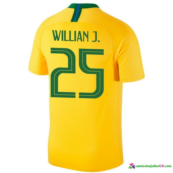 Willian J. Camiseta 1ª Kit Brasil 2018 Amarillo